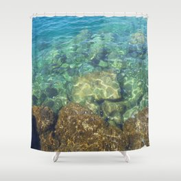Greek Sea Water Shower Curtain