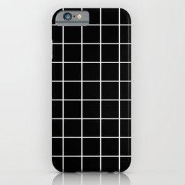 Square Grid Black iPhone Case