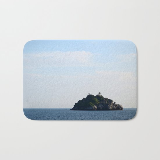 One Little Island and Five Little Houses Bath Mat