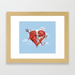 Love at fifth sight Framed Art Print