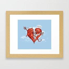 Love at fifth sight Framed Art Print