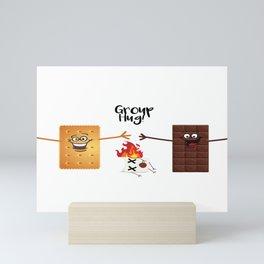 Funny Group Hug Smores Chocolate Marshmallow Mini Art Print