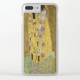 Gustav Klimt's The Kiss Clear iPhone Case