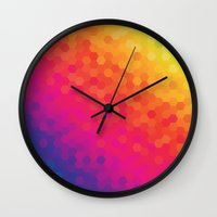honeycomb Wall Clocks featuring honeycomb by snja
