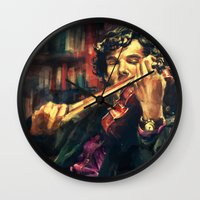 alice Wall Clocks featuring Virtuoso by Alice X. Zhang