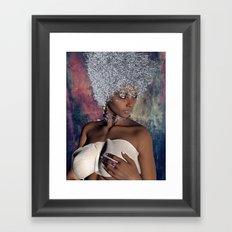 face and hair Framed Art Print