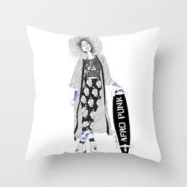 Afro tribe  Throw Pillow