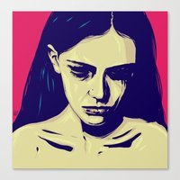 anxiety Canvas Prints featuring Anxiety by Giuseppe Cristiano