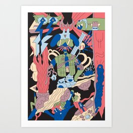 El Peludo Banditos Art Print
