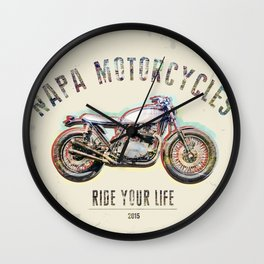 Napa Motorcycles Wall Clock