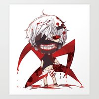 tokyo ghoul Art Prints featuring TOKYO GHOUL by enzouke