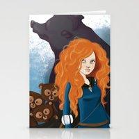 merida Stationery Cards featuring Merida by Sophie Cappellari