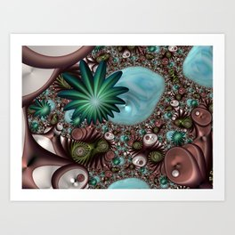 Tropical Trails Fractal Art Print