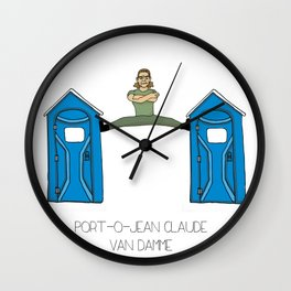 Port-O-Jean Claude Van Damme Wall Clock