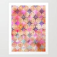 Bohemian Night Skye (Peach) Art Print