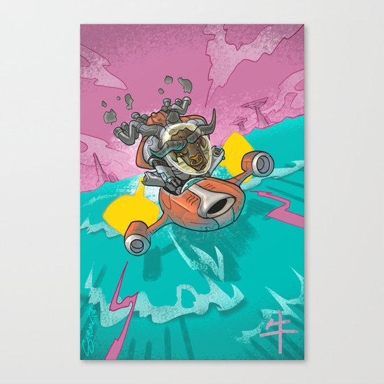 Astro Zodiac Force 02:  Ox Canvas Print