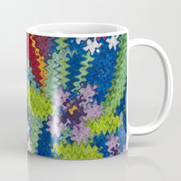 Starry Floral Felted Wool, Blue Coffee Mug