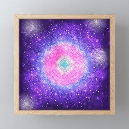 Galaxy Mandala 002 Framed Mini Art Print