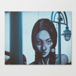 Indian girl mural Canvas Print