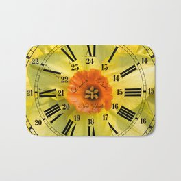 The Power of Petals 2...The Clock! Bath Mat