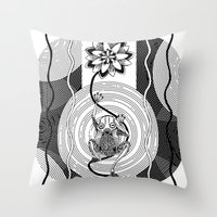 frog Throw Pillows featuring Frog by alicanto