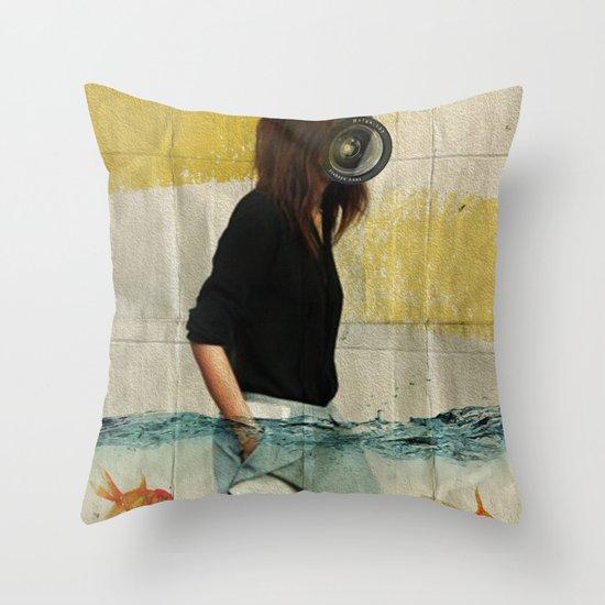 Deep Water Running Throw Pillow