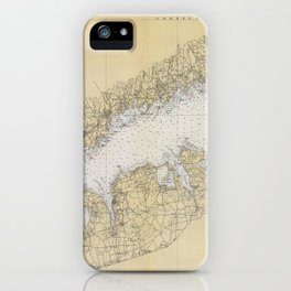 Vintage Map of The Long Island Sound (1934) iPhone Case