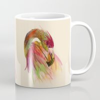 birds Mugs featuring birds  by mark ashkenazi