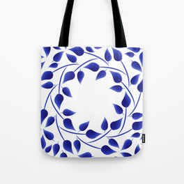 Blue leaf weave Tote Bag