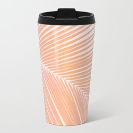 Palm leaf - copper pink Travel Mug