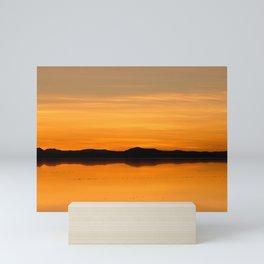Sunset Salar de Uyuni 5 - Bolivia - Landscape and Rural Art Photography Mini Art Print