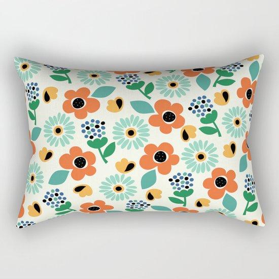 Floral Time Rectangular Pillow
