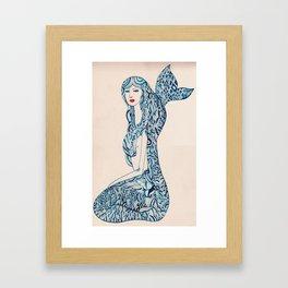 Portrait of a Mermaid Framed Art Print