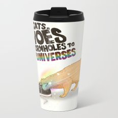 For Cats, Shoes are Wormholes to Other Universes Metal Travel Mug