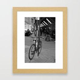 Bike Commuter Framed Art Print
