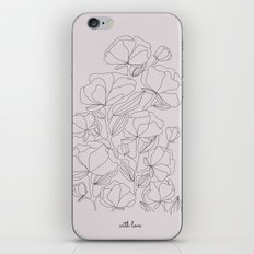 flowers, with love iPhone & iPod Skin