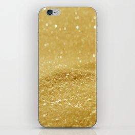 Glitter Gold iPhone Skin