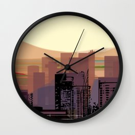 Phoenix Skyline Downtown Wall Clock