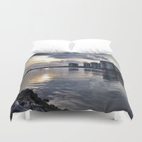vancouver Duvet Covers featuring Vancouver  by amberino