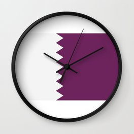 flag of qatar Wall Clock