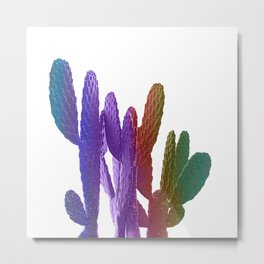Unicorn Cactus Metal Print