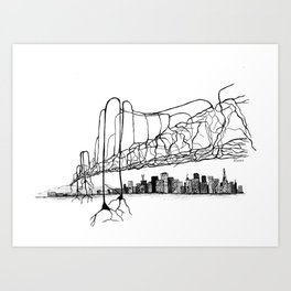 Neuron Bridge Art Print
