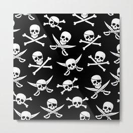 Pirateskulls Metal Print