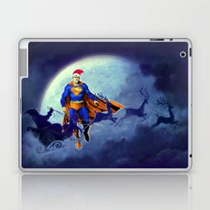Santa and Superman Around The World Laptop & iPad Skin
