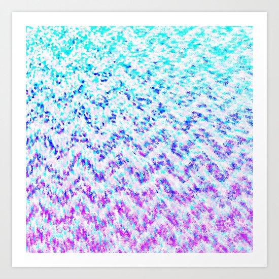 Chevron Splash Art Print
