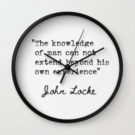 John Locke English philosopher and physician  Wall Clock