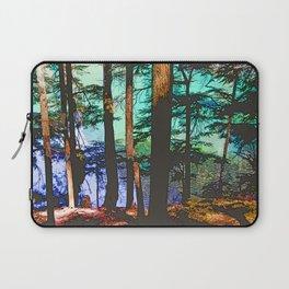 MOUNTAIN LAKE THROUGH HEMLOCK TREES Laptop Sleeve