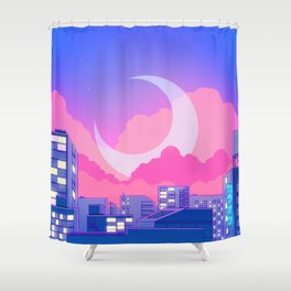 Dreamy Moon Nights Shower Curtain