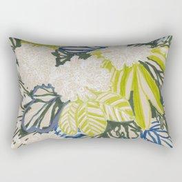 White chrysanthemums -ink floral Rectangular Pillow