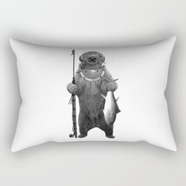 Harpoon Fishing Bear Rectangular Pillow